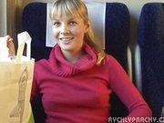 Czeska para w pociągu