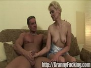 Grandma takes the whole cock