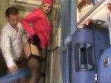 Sex w samolocie ze Stewardessą